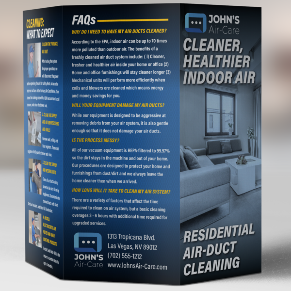 residential duct cleaning brochure