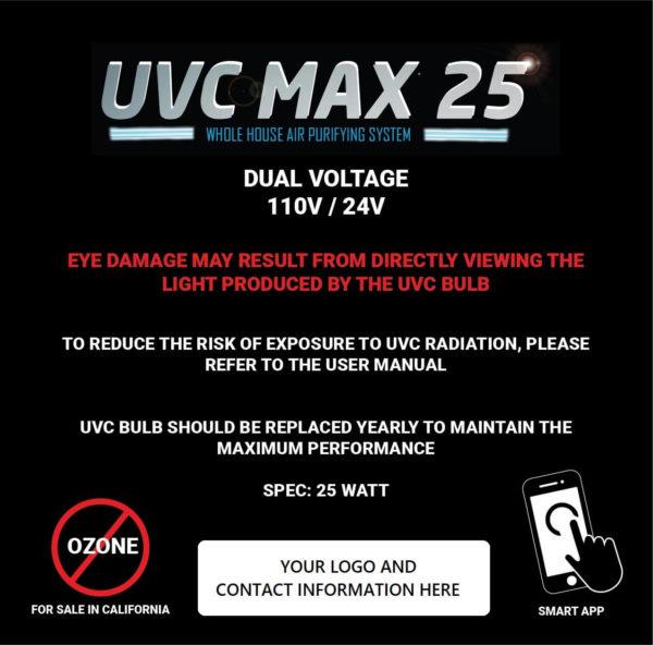 UVC Max label illustration