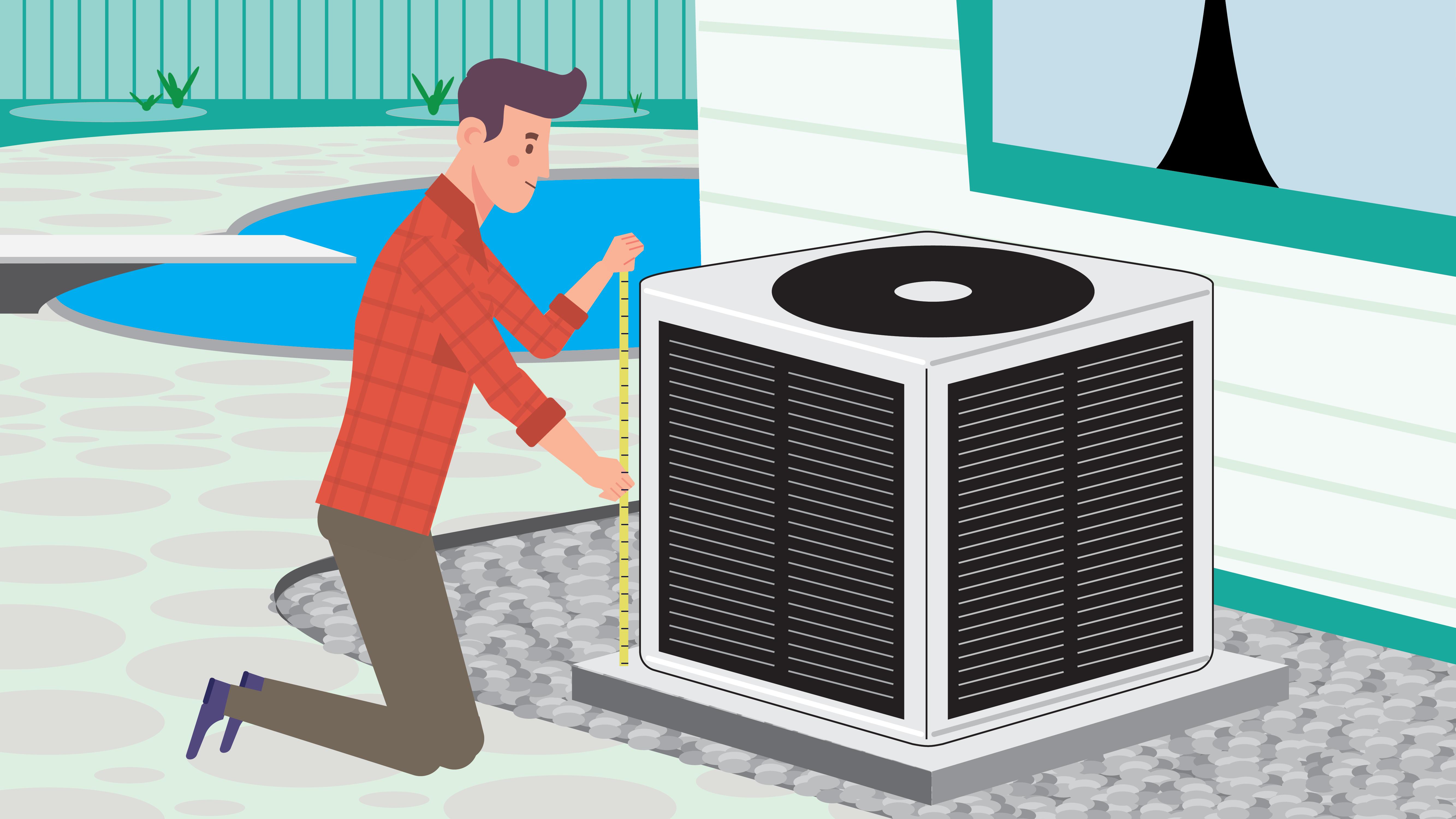 illustration of kool wrap filter installation